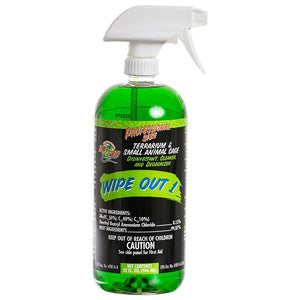 Zoo Med Wipe Out 1 - Small Animal & Reptile Terrarium Cleaner 32 oz - All Pets Store