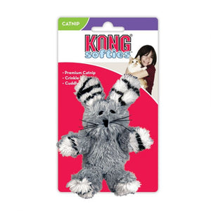 Kong Fuzzy Bunny Softies Cat Toy - Assorted Fuzzy Bunny - Assorted Colors