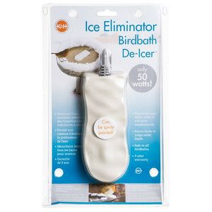 "K & H Bird Bath De-Icer - Super Ice Eliminator 50 Watts - 7""L x 3""W x 1""H - All Pets Store"