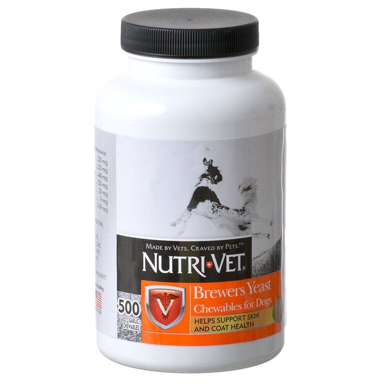 Nutri-Vet Brewers Yeast Flavored with Garlic 500 Count