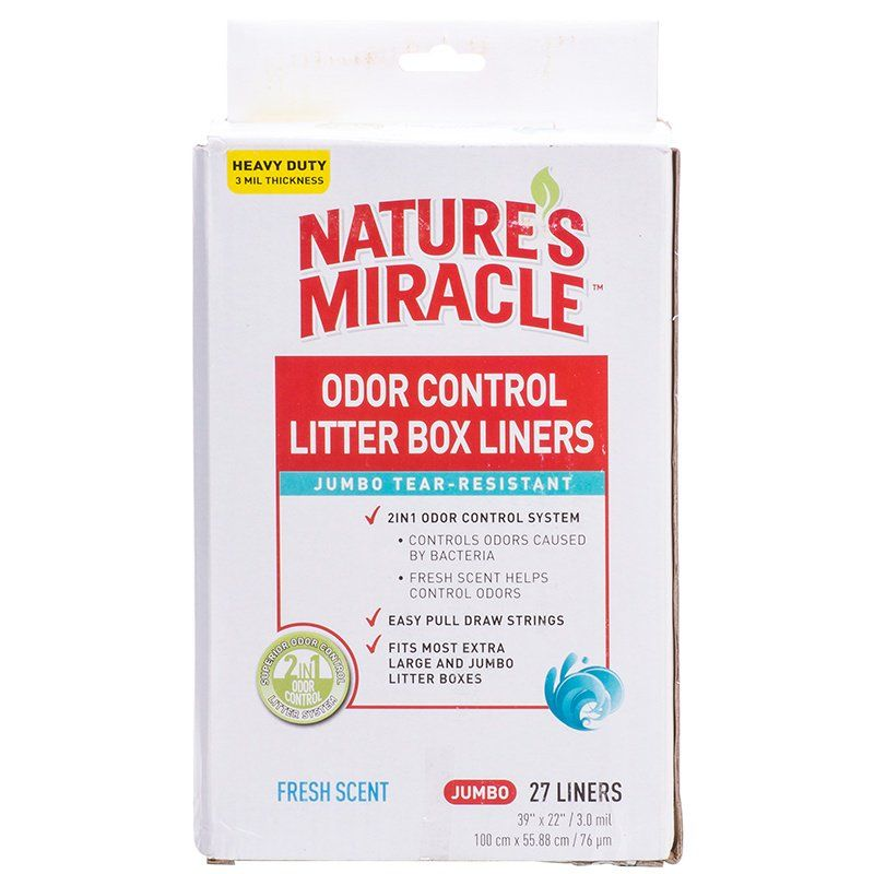Nature's Miracle Odor Control Litter Box Liners Jumbo (27 Pack) - All Pets Store