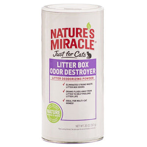 Nature's Miracle Just For Cats Litter Box Odor Destroyer - Deodorizing Powder 20 oz - All Pets Store