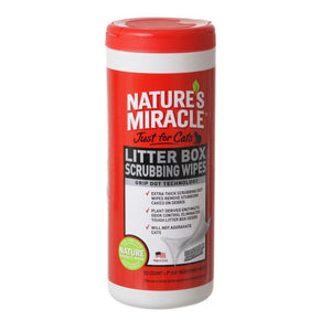 "Nature's Miracle Just For Cats Litter Box Wipes 30 Count - (7"" x 8"" Wipes) - All Pets Store"