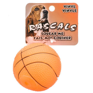 "Rascals Vinyl Basketball for Dogs 2.5"" Diameter - All Pets Store"