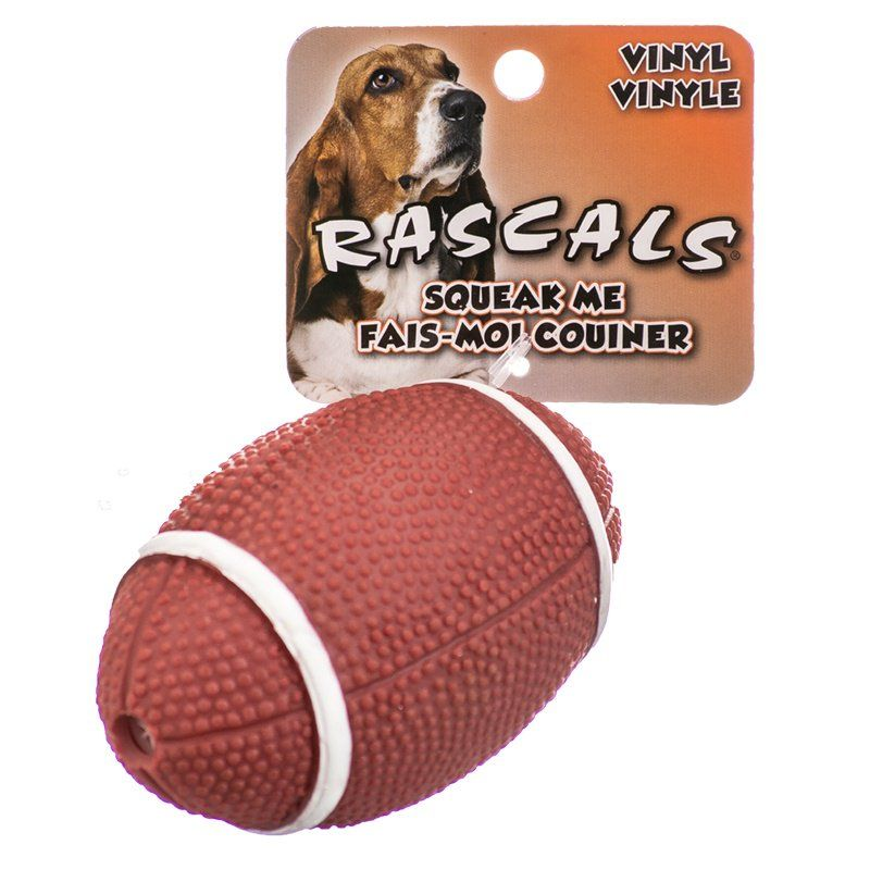 "Rascals Vinyl Football Dog Toy 4"" Long - All Pets Store"