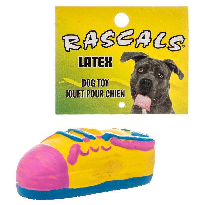 "Rascals Latex Small Tennis Shoe Dog Toy 3.5"" Long - All Pets Store"