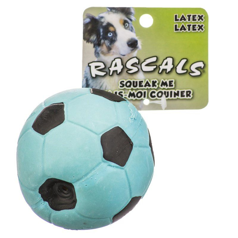 "Rascals Latex Soccer Ball for Dogs - Blue 3"" Diameter - All Pets Store"