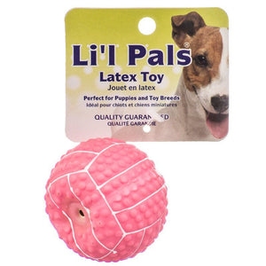 "Lil Pals Latex Mini Volleyball for Dogs - Pink 2"" Diameter - All Pets Store"