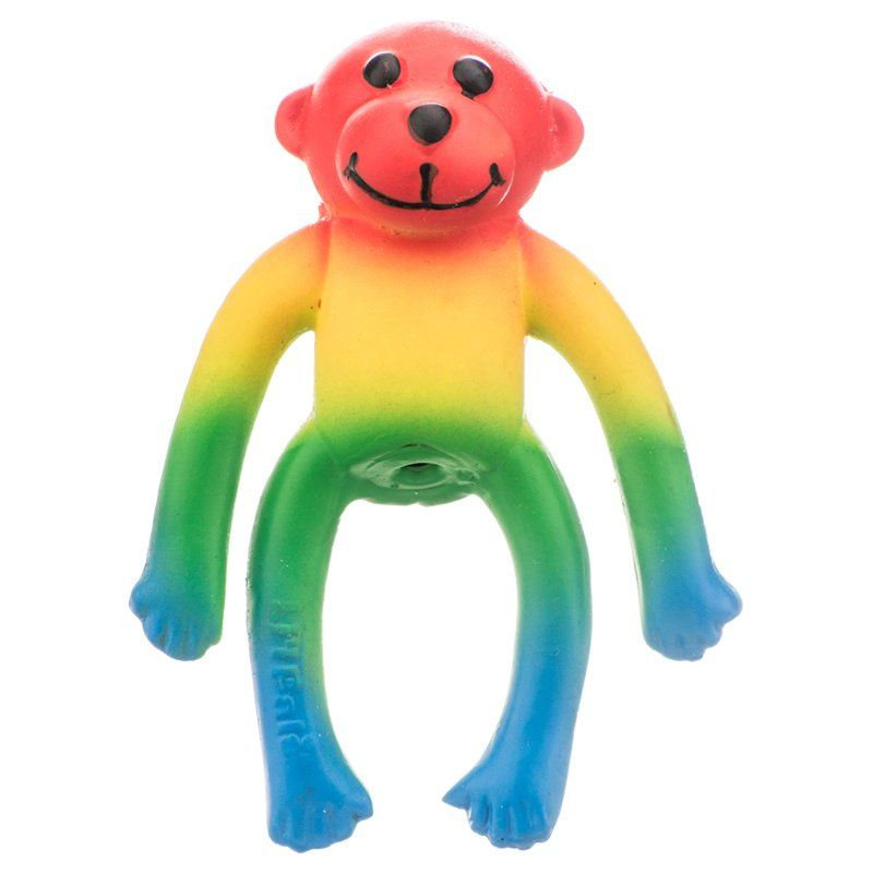 Lil Pals Latex Monkey Dog Toy - Assorted Colors 4