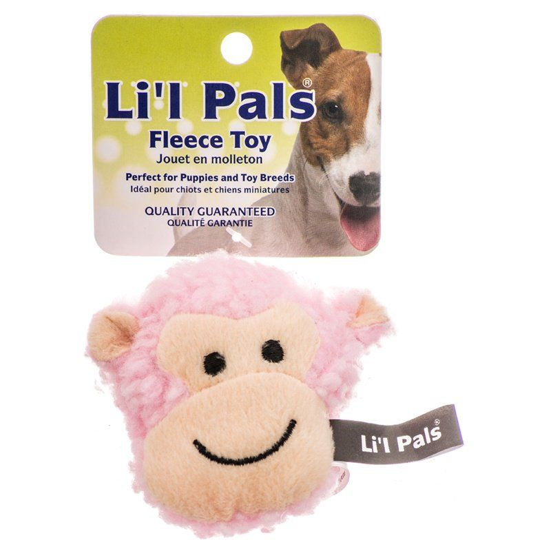 Lil Pals Fleece Monkey Dog Toy 2.5