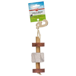 "Kaytee Lava 'N Wood Hanging Chew Toy Hanging Chew Toy - (2"" Diameter x 9.5"" High) - All Pets Store"