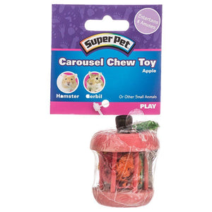 "Kaytee Carousel Chew Toy - Apple 1 Pack - (1.75"" Diameter x 2.25"" High) - All Pets Store"
