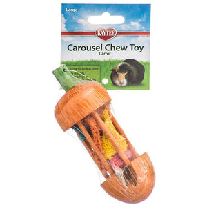 "Kaytee Carousel Chew Toy - Carrot Carrot Chew Toy - (1.75"" Diameter x 4.75"" High) - All Pets Store"
