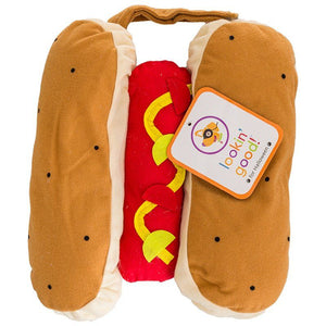 "Lookin' Good Hot Dog Dog Costume X-Small - (Fits 8""-10"" Neck to Tail) - All Pets Store"