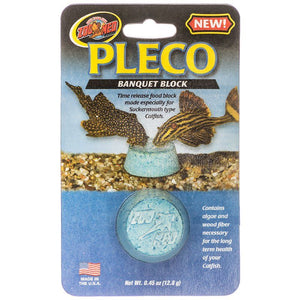 Zoo Med Pleco Banquet Block 1 Pack - (0.45 oz / 12.8 grams) - All Pets Store