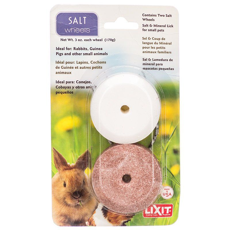 Lixit Salt & Mineral Wheels for Small Pets 2 Pack - (3 oz Salt Wheel & 3 oz Mineral Wheel) - All Pets Store