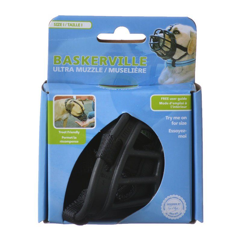 Baskerville Ultra Muzzle for Dogs Size 1 - Dogs 10-15 lbs - (Nose Circumference 8.6