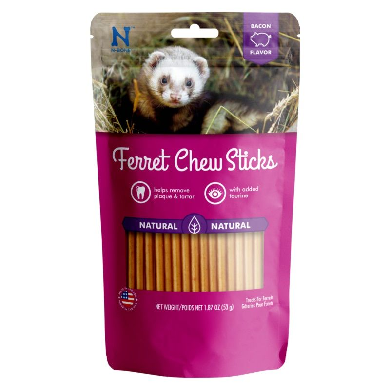 N-Bone Ferret Chew Sticks Bacon Flavor 1.87 oz - All Pets Store