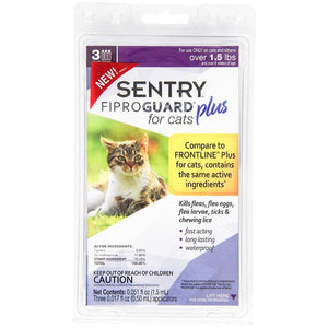 Sentry Fiproguard Plus for Cats & Kittens 3 Applications - (Cats over 1.5 lbs) - All Pets Store