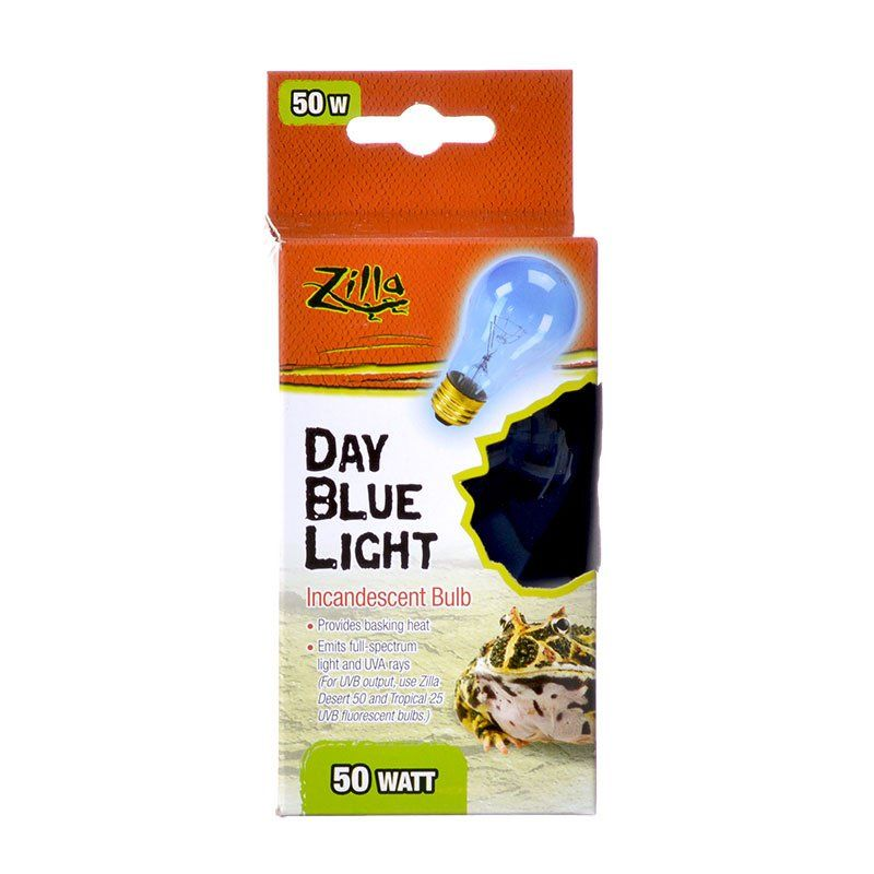 Zilla Incandescent Day Blue Light Bulb for Reptiles 50 Watt - All Pets Store