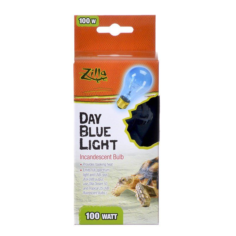 Zilla Incandescent Day Blue Light Bulb for Reptiles 100 Watt - All Pets Store