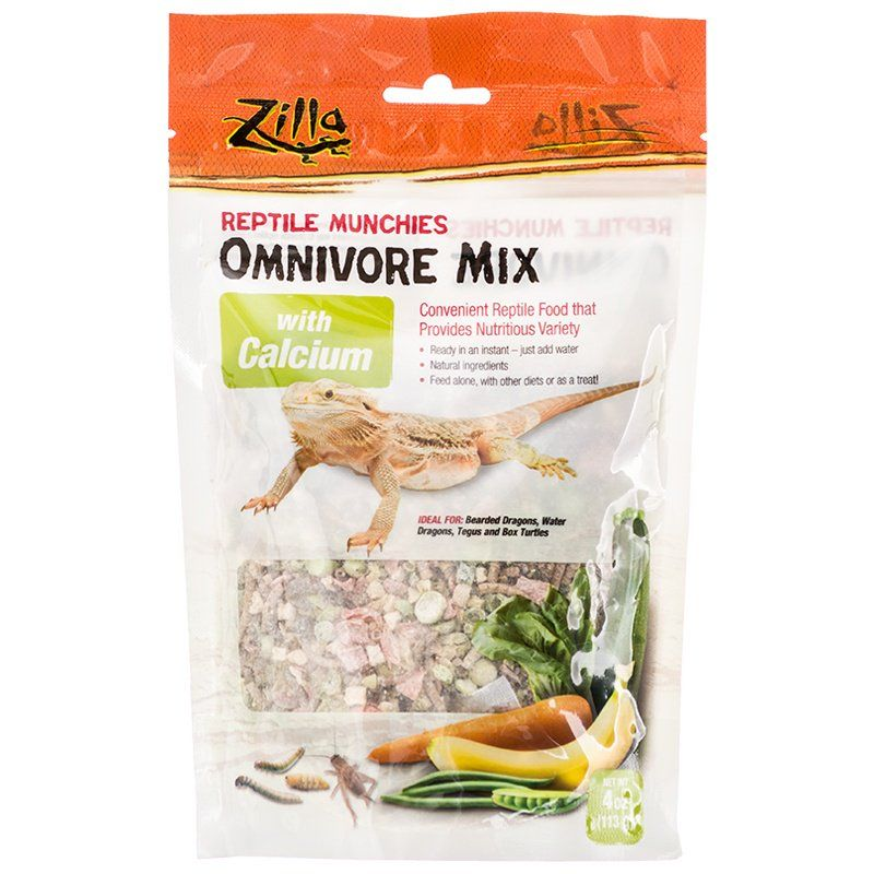 Zilla Reptile Munchies - Omnivore Mix with Calcium 4 oz - All Pets Store