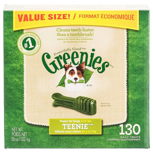 Greenies Original Dental Dog Chews Teenie Value Pack - 130 Treats - (Dogs 5-15 lbs) - All Pets Store