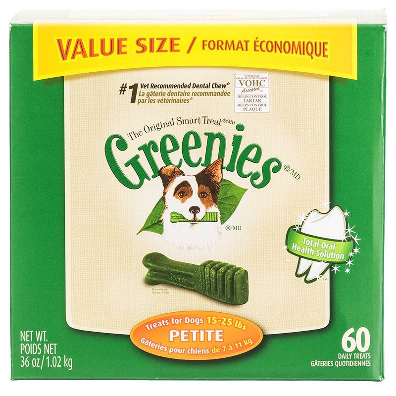 Greenies Original Dental Dog Chews Petite Value Pack - 60 Treats - (Dogs 15-25 lbs) - All Pets Store