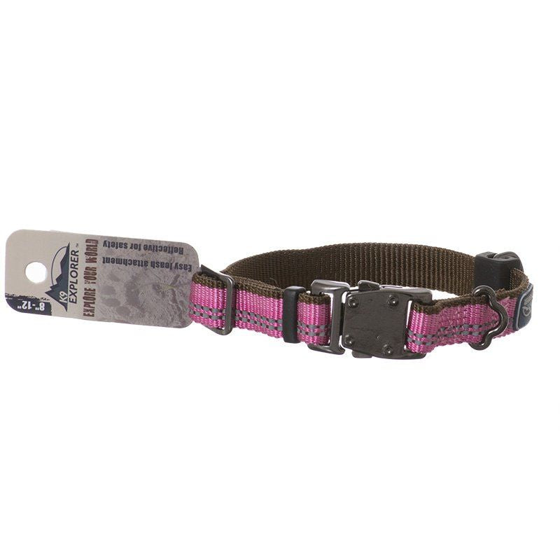 "K9 Explorer Reflective Adjustable Dog Collar - Rosebud 8""-12"" Long x 5/8 Wide - All Pets Store"