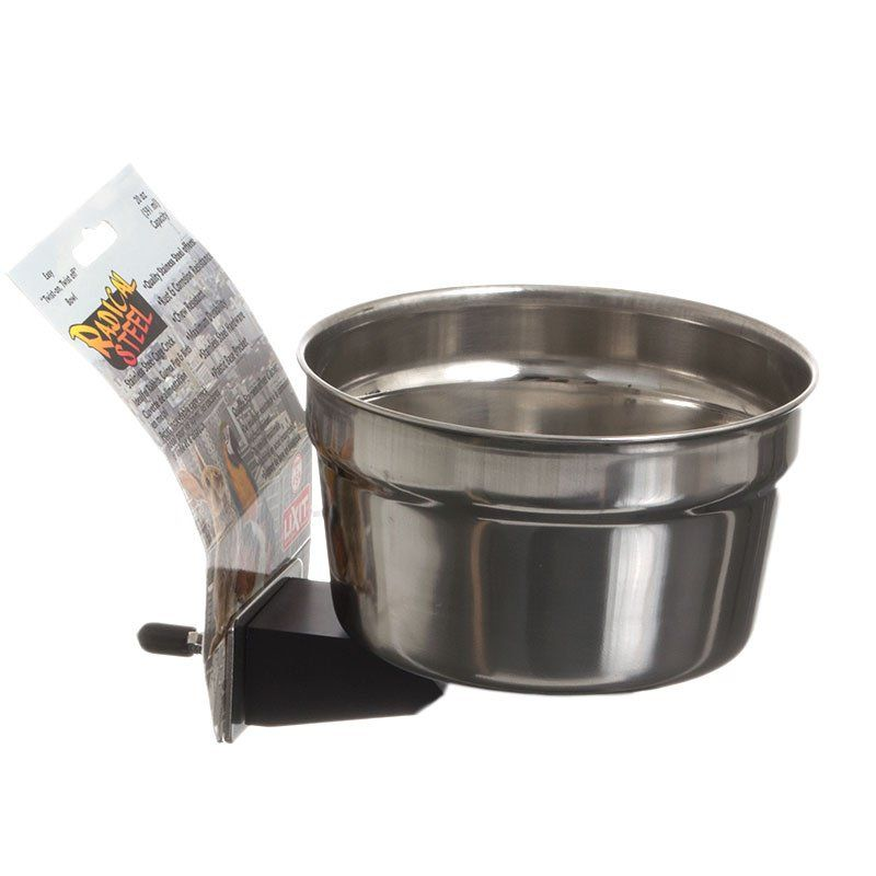 Lixit Radical Steel Metal Cage Crock Bowl for Small Animals & Birds 20 oz - All Pets Store