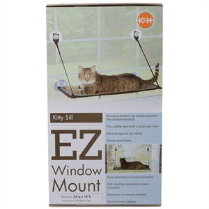 "K&H Kitty Sill - EZ Window Mount 12"" Long x 23"" Wide - All Pets Store"