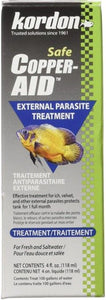 Kordon Copper Aid External Parasite Treatment 4 oz (Treats 100 Gallons)