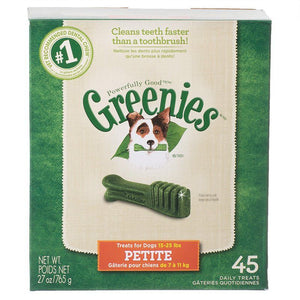 Greenies Original Dental Dog Chews Petite - 45 Treats - (Dogs 15-25 lbs) - All Pets Store