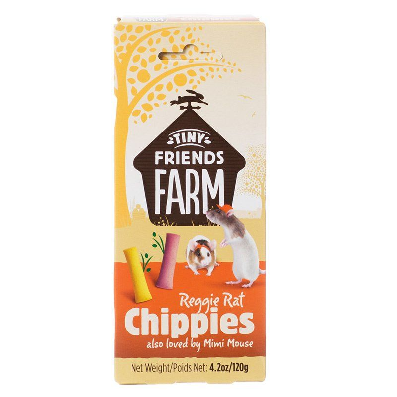 Tiny Friends Farm Reggie Rat Chippies 4.2 oz - All Pets Store