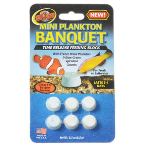 Zoo Med Plankton Banquet Fish Feeding Block Mini - 6 Pack - All Pets Store