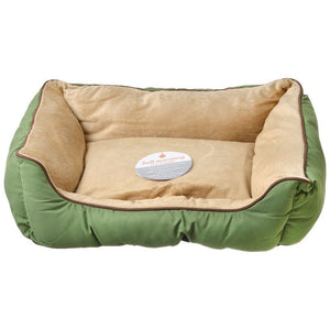 "K&H Pet Products Self Warming Sleeper Lounge - Sage & Tan Small (16"" Long x 20"" Wide) - All Pets Store"