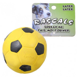 "Rascals Latex Soccer Ball for Dogs - Yellow 3"" Diameter - All Pets Store"