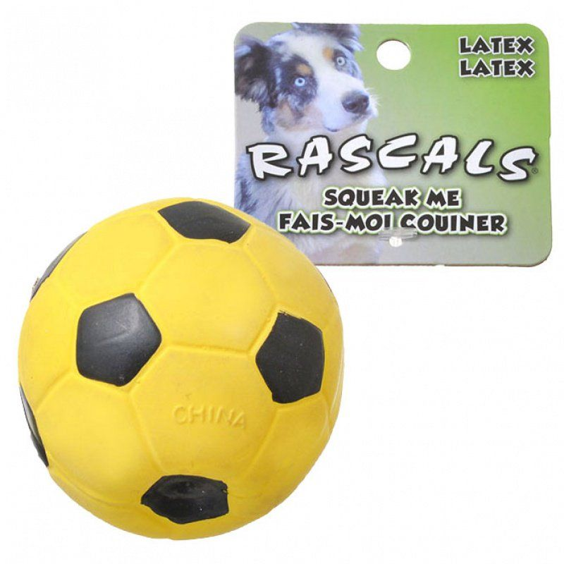 Rascals Latex Soccer Ball for Dogs - Yellow 3