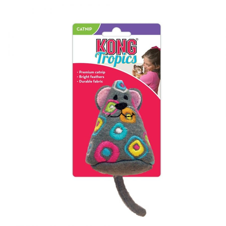 Kong Tropics Mouse Cat Toy with Catnip 1 Pack
