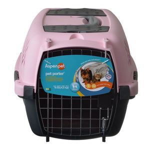 "Aspen Pet Pet Porter - Pink Pets up to 10 lbs (19""L x 12.6""W x 10""H) - All Pets Store"