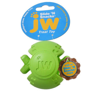 "JW Pet Slide 'n Snacks Ball Treat Toy 1 Pack - 3.5"" Diameter (Assorted Colors) - All Pets Store"