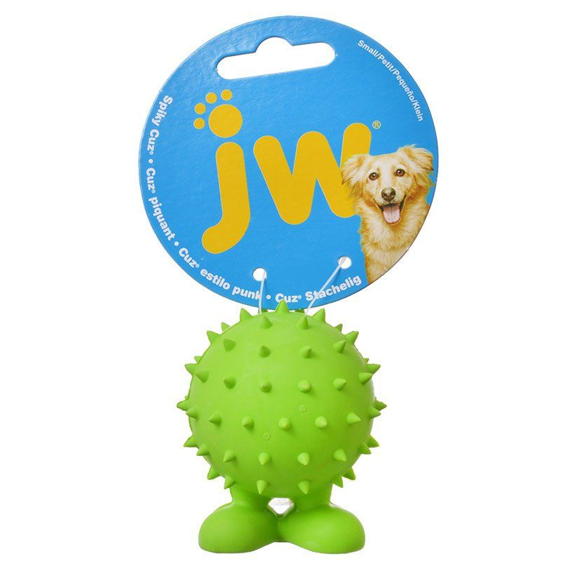 "JW Pet Spiky Cuz Dog Toy Small - 2.6"" Tall (Assorted Colors) - All Pets Store"