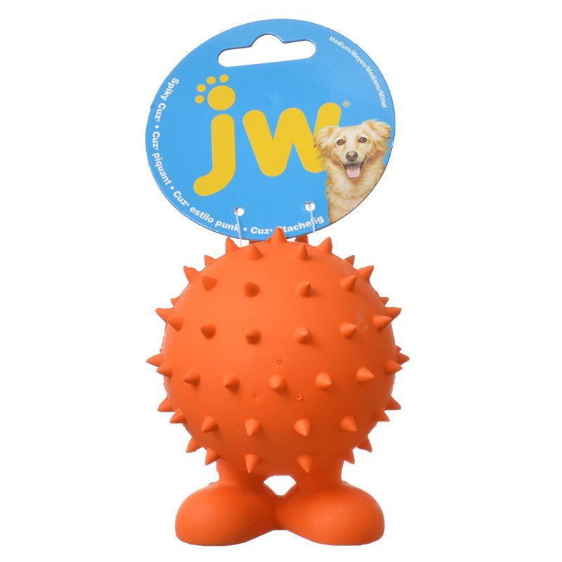 JW Pet Spiky Cuz Dog Toy Medium - 3.9