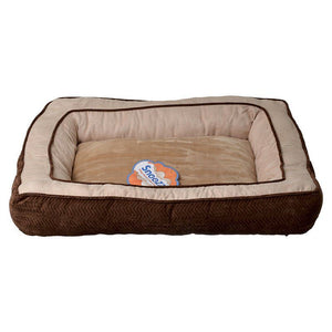 "Precision Pet Snoozzy Chevron Chenille Gusset Dog Bed - Chocolate 27""L x 36""W - All Pets Store"