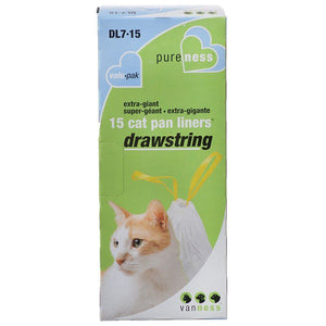 Van Ness Drawstring Cat Pan Liners X-Giant (15 Pack) - All Pets Store