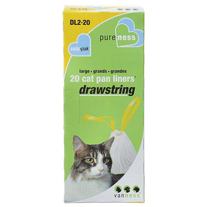 Van Ness Drawstring Cat Pan Liners Large (20 Pack) - All Pets Store