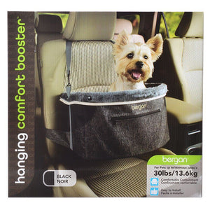 Bergan Comfort Hanging Booster Seat - Black Small (Pets up to 30 lbs) - All Pets Store