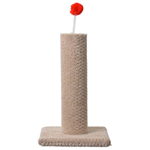 "Classy Kitty Carpeted Cat Post with Spring Toy 16"" High (Assorted Colors) - All Pets Store"