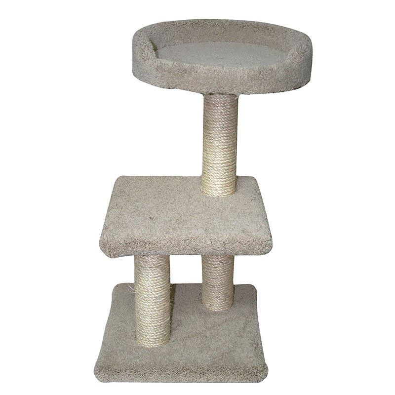"Classy Kitty 2-Tier Tree with Bed 15""L x 15.5""W x 27.5""H - All Pets Store"