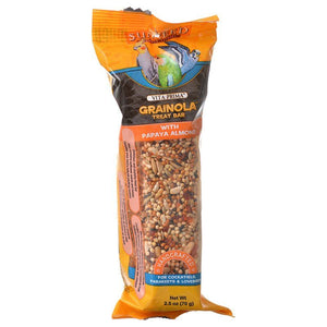 Sunseed Vita Prima Grainola Treat Bar - Papaya Almond 2.5 oz - All Pets Store